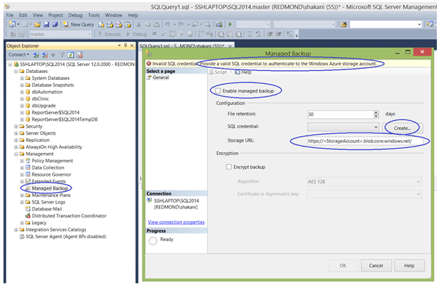 SQL Server Backups in Cloud